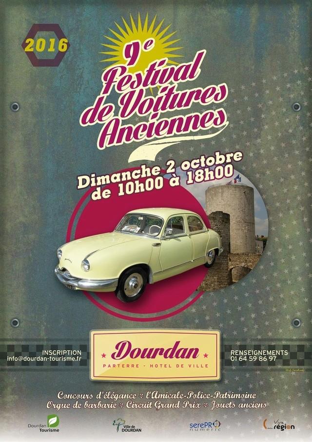 9e Festival de Voitures Anciennes à Dourdan, 2 octobre 2016 Affich10