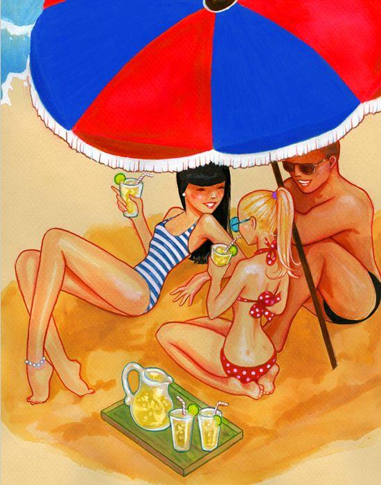 """Illustrations ... pour l'été ... Plage et """"farniente"""" ... - Page 2 00305b10"""