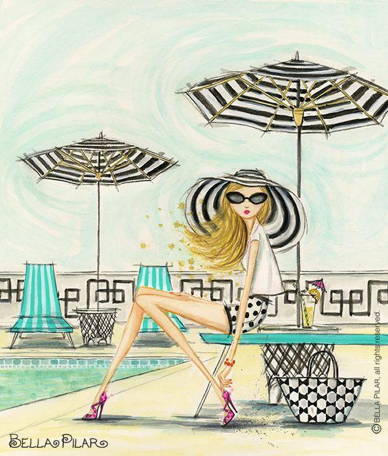"""Illustrations ... pour l'été ... Plage et """"farniente"""" ... 138ca610"""