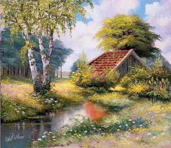 L'eau paisible des ruisseaux et petites rivières  16f9b810