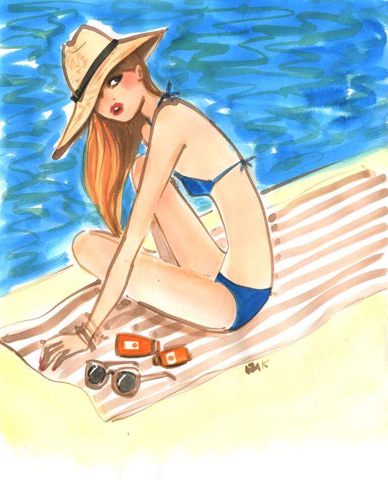 """Illustrations ... pour l'été ... Plage et """"farniente"""" ... - Page 2 282b8c10"""