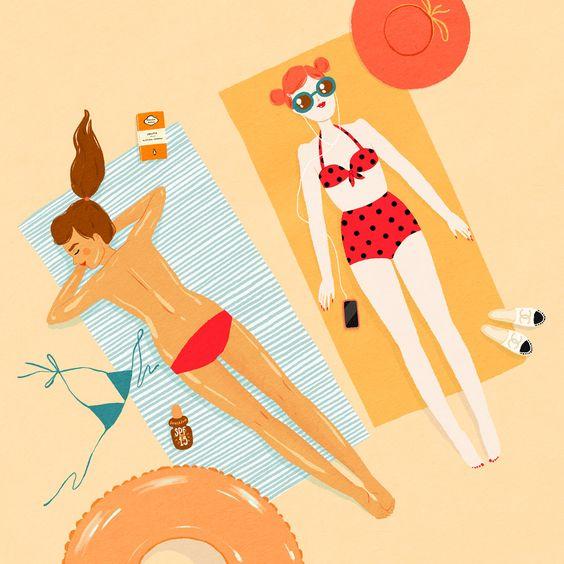 """Illustrations ... pour l'été ... Plage et """"farniente"""" ... - Page 3 4cbd2910"""
