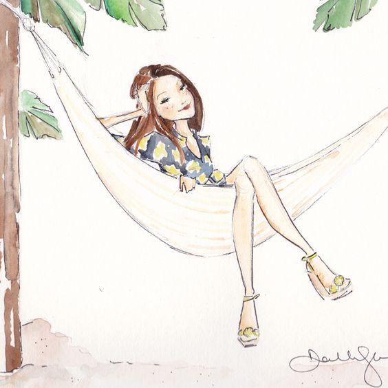 """Illustrations ... pour l'été ... Plage et """"farniente"""" ... 509f7f10"""