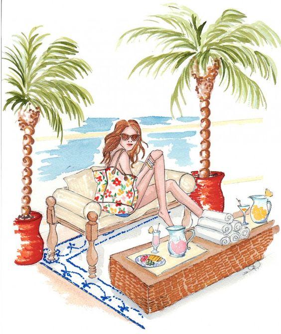 """Illustrations ... pour l'été ... Plage et """"farniente"""" ... 5b92bf10"""