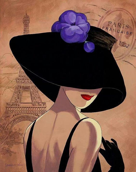 """Des élégantes  """"chapeautées"""" ... 61624210"""