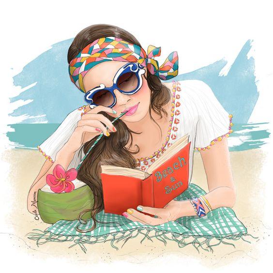 """Illustrations ... pour l'été ... Plage et """"farniente"""" ... 70df3310"""
