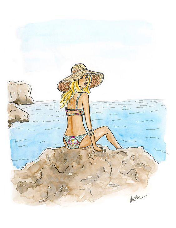 """Illustrations ... pour l'été ... Plage et """"farniente"""" ... 815a8210"""