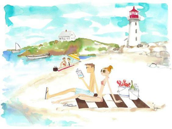 """Illustrations ... pour l'été ... Plage et """"farniente"""" ... 8e6bc610"""