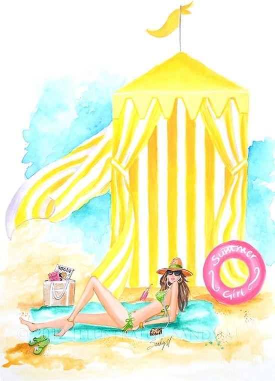 """Illustrations ... pour l'été ... Plage et """"farniente"""" ... - Page 2 A2ca3a10"""