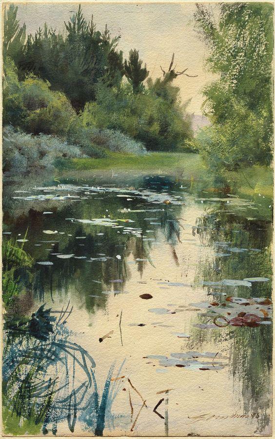 L'eau paisible des ruisseaux et petites rivières  Anders10