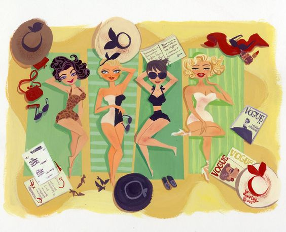 """Illustrations ... pour l'été ... Plage et """"farniente"""" ... - Page 2 B6341f10"""