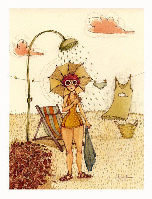 """Illustrations ... pour l'été ... Plage et """"farniente"""" ... - Page 2 C3976610"""