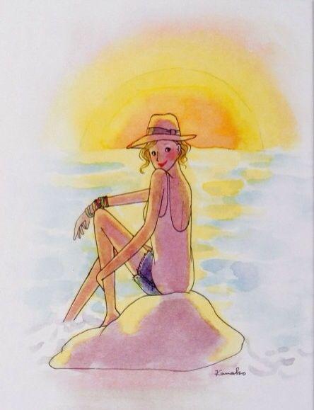 """Illustrations ... pour l'été ... Plage et """"farniente"""" ... - Page 2 Cb20d210"""