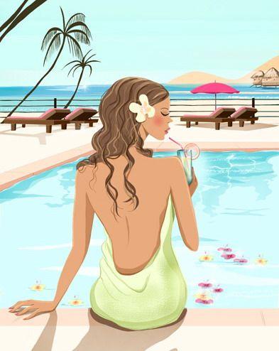 """Illustrations ... pour l'été ... Plage et """"farniente"""" ... - Page 2 F3712510"""