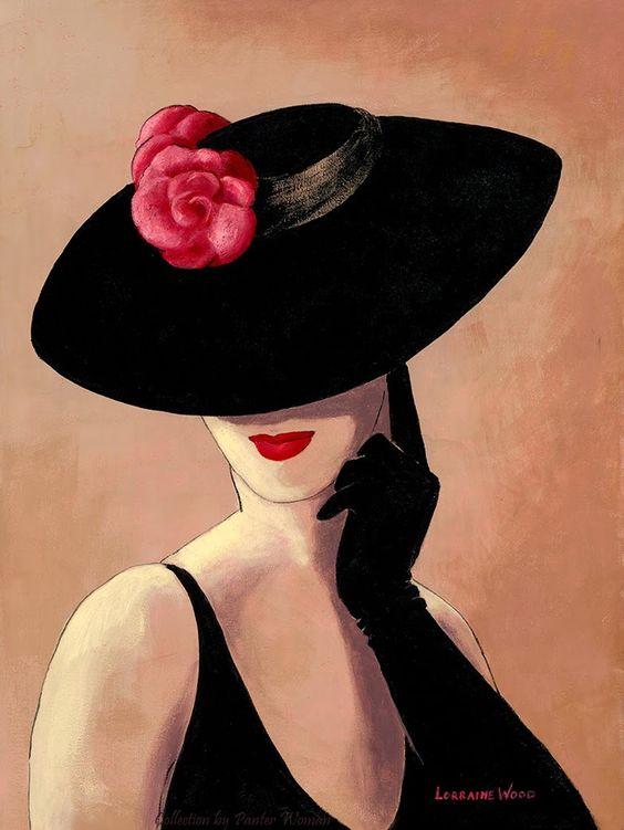 """Des élégantes  """"chapeautées"""" ... Lorrai11"""