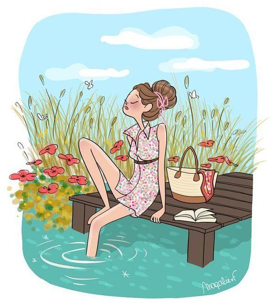 """Illustrations ... pour l'été ... Plage et """"farniente"""" ... Magali11"""
