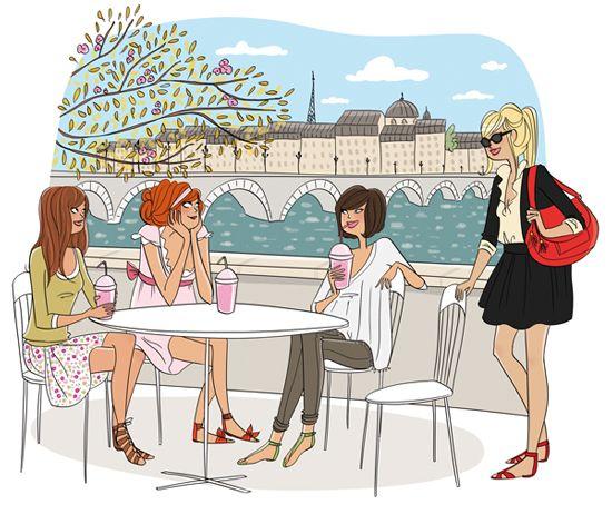 """Illustrations ... pour l'été ... Plage et """"farniente"""" ... Magali14"""