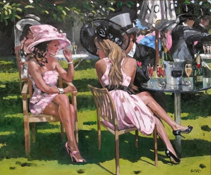 """Des élégantes  """"chapeautées"""" ... - Page 2 Sherre10"""