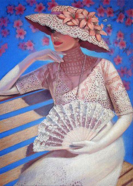 """Des élégantes  """"chapeautées"""" ... Sue_ha10"""