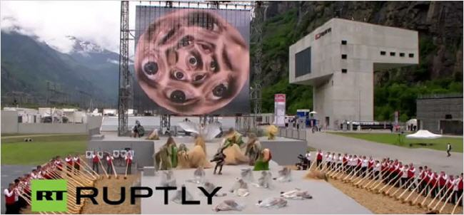 Inauguration du Tunnel de Gothard : une cérémonie satanique ! Gothar11