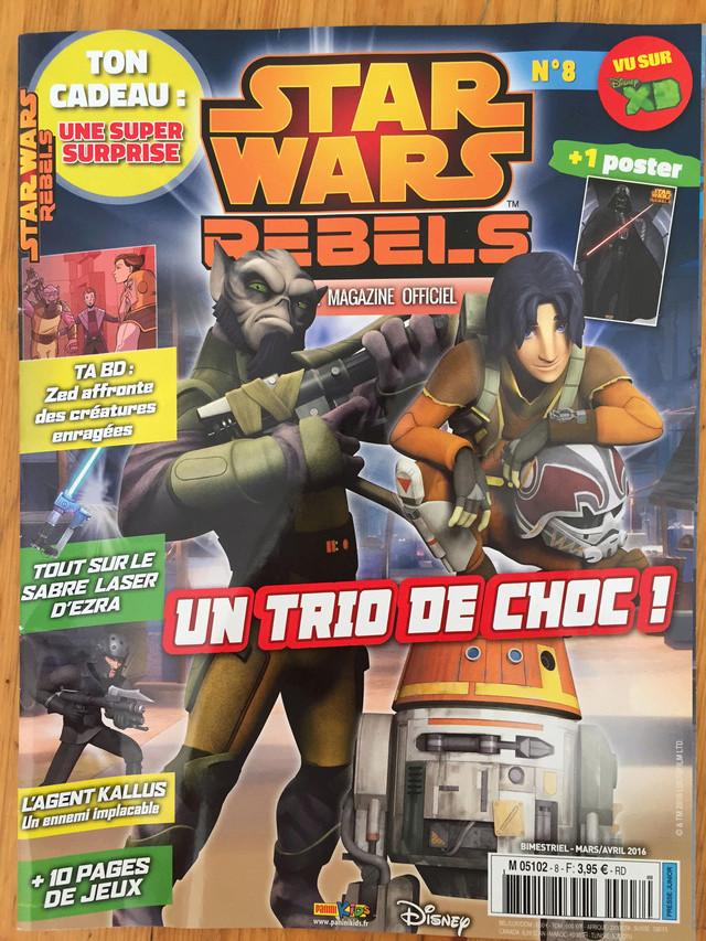 Magazine Panini STAR WARS REBELS #8 Img_7221