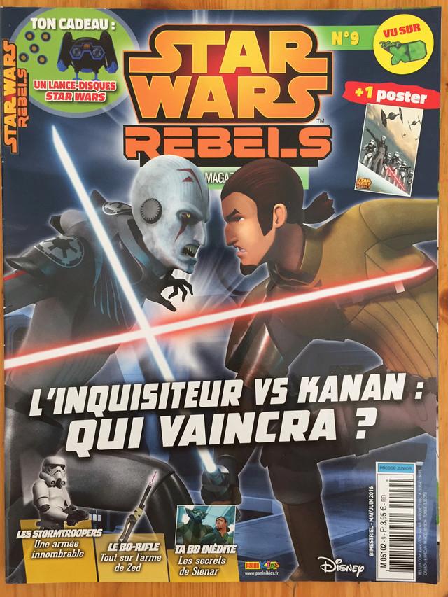 Magazine Panini STAR WARS REBELS #9 Img_7222