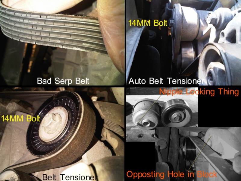 Serp belt, tensioner, auto tensioner repair... Parts_10