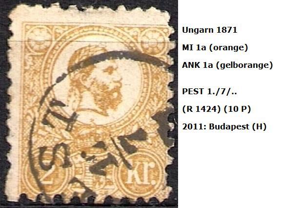 ungarn - m`s UNGARN 1871 1a10