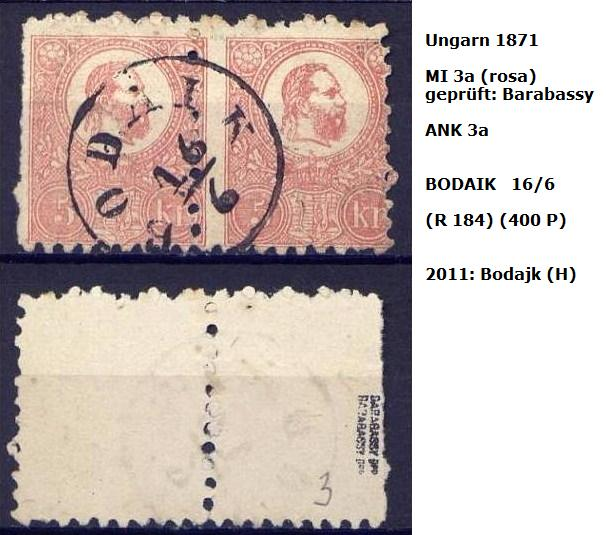 ungarn - m`s UNGARN 1871 3a_p_b10