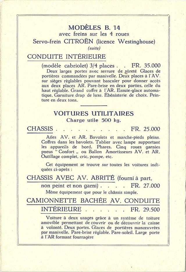 PUBLICITES D'EPOQUE B14 Tarif_14
