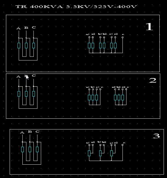 Synoptique de couplage d'un transformateur spécifique Coupla11