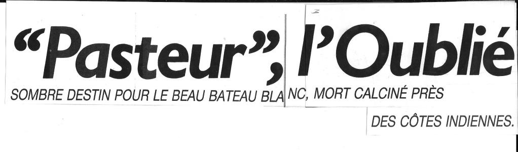 Histoire de Bâteaux - Le Pasteur 118