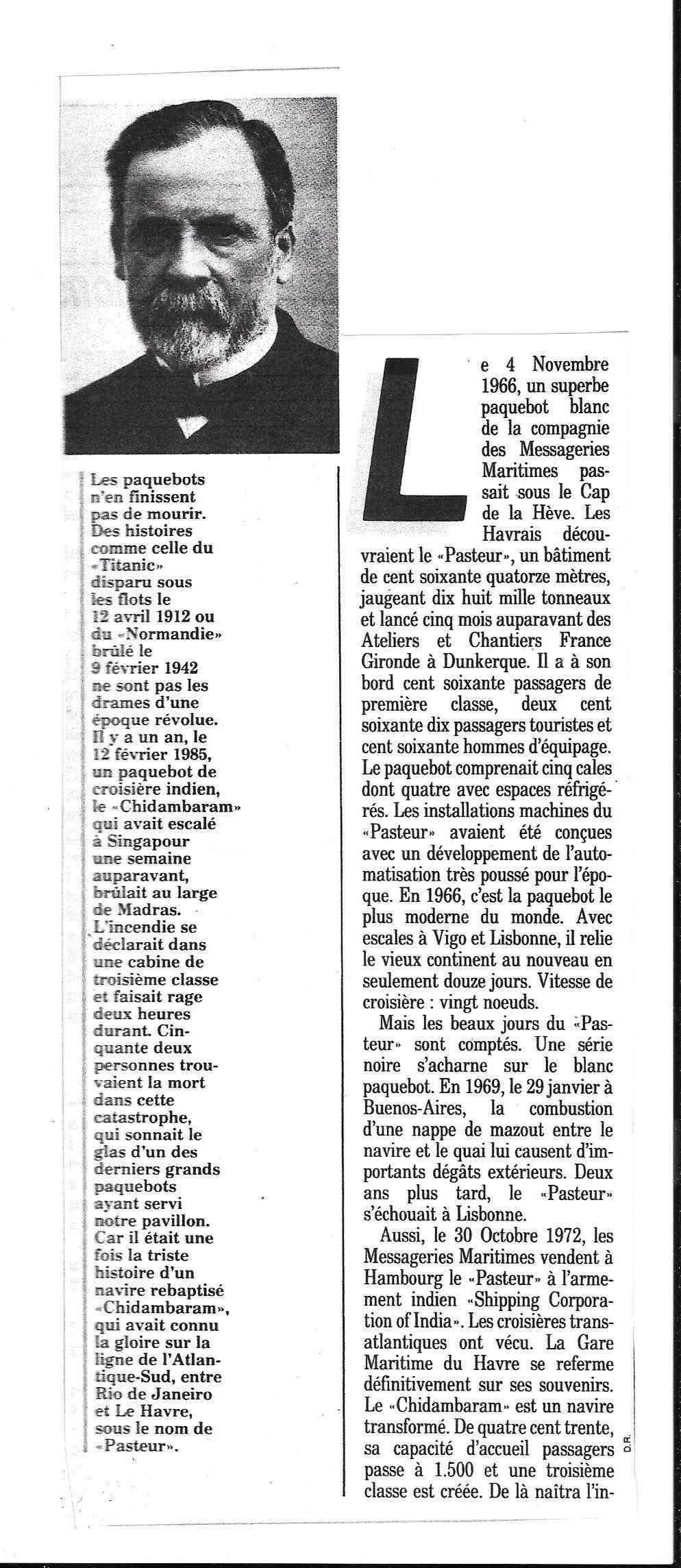 Histoire de Bâteaux - Le Pasteur 217