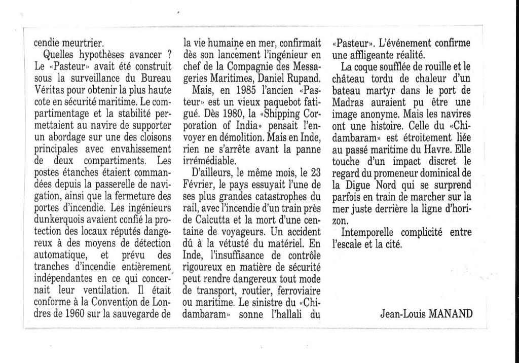 Histoire de Bâteaux - Le Pasteur 319