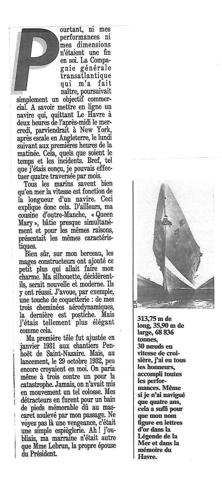 Paquebot Normandie 1942 413