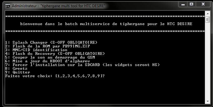[SOFT/TUTO] TIPHERGANE MULTITOOL : Désimlock, Root, SuperCID, Flash ROM Officiel, HBoot Update, S-OFF,... en un clic [Gratuit/Donation] Captur10
