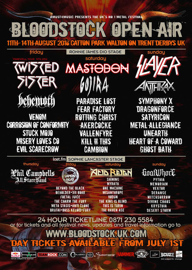 Bloodstock Festival - Catton Hall (U.K) August 13 - 2016 Bloods10