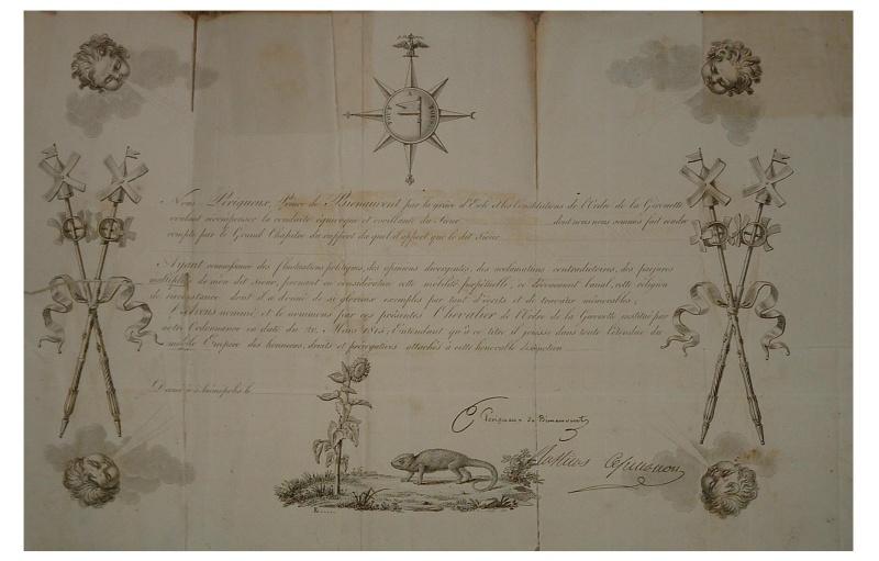 Légion d'Honneur et Ordre du Lys Restauration. Ordre_10