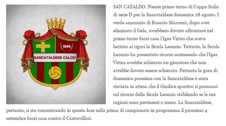 1° Turno - Gara unica: sicula leonzio - SANCATALDESE 1-3 dcr Sancat12