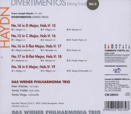 Les trios pour cordes HobV. Haydn_10