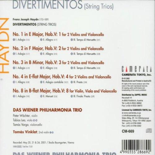 Les trios pour cordes HobV. Haydn_11