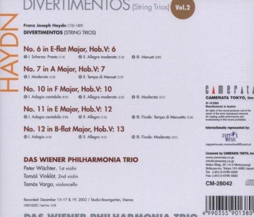 Les trios pour cordes HobV. Haydn_13