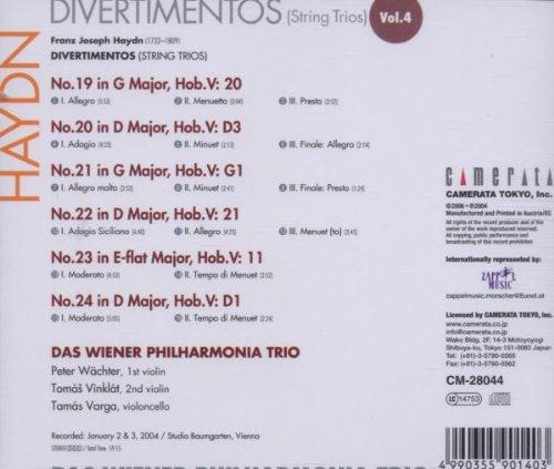 Les trios pour cordes HobV. Haydn_14