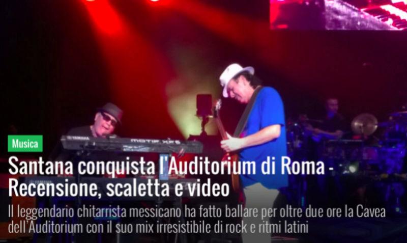 Carlos Santana a Roma Scherm10