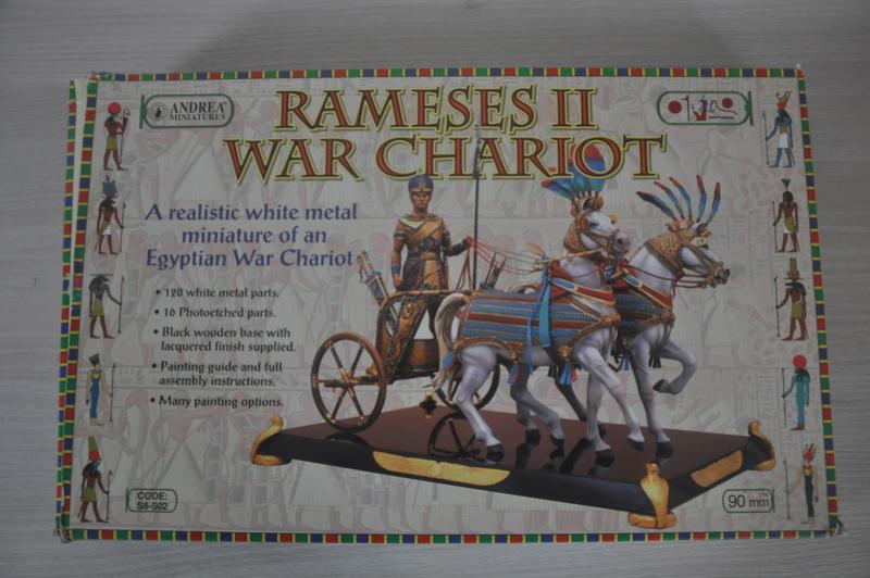 Ramsès II sur son char de guerre- 90 mm Andrea. Fin du premier cheval Dsc_0014
