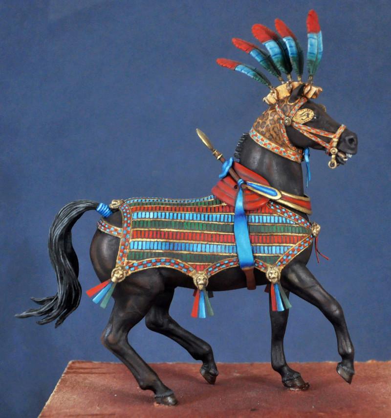 Ramsès II sur son char de guerre- 90 mm Andrea. Fin du premier cheval Dsc_0026