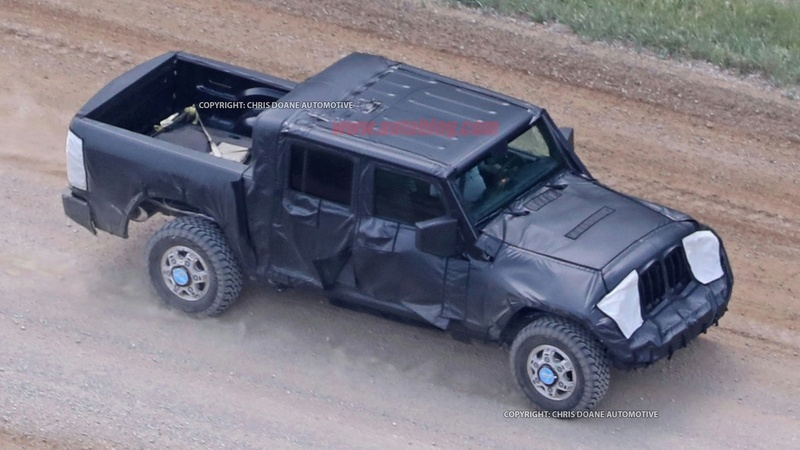 Scoop : un prototype de Jeep Wrangler Pick-up 2018 surpris en cours d'essais Cn1aqn10