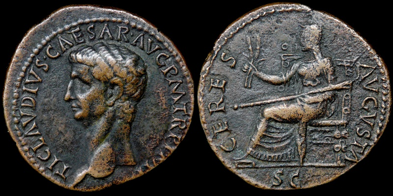 CLAUDIUS. 41-54 CERES AVGVSTA Indentification Vrai ou Faux ? 0060-310
