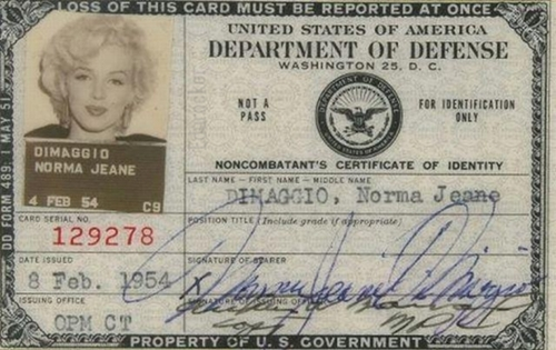 Marilyn Monroe - Documento de identidade Marily12