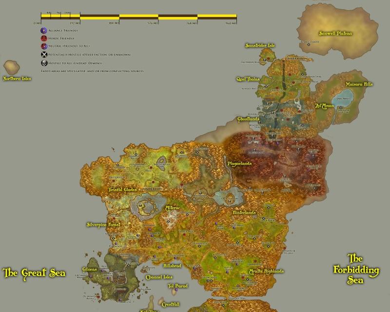 Géographie d'Azeroth : faits et spéculations Travel10